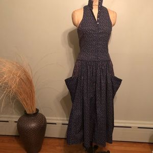 Betsey Johnson Vintage 80's cotton dress small 6/8
